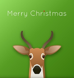Deer with ribbon vector image