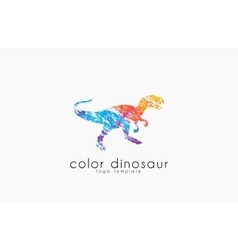 Dinosaur logo design color logo animal logo vector