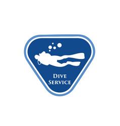dive-service-logo vector image