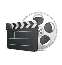 Film clap board icon vector