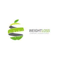 Fitness logo concept lose weight program vector