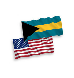 Flags commonwealth bahamas and america vector