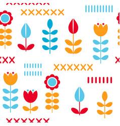 Floral pattern surface design scandinavian style vector