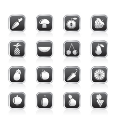 Fruits and Vegetable icons vector