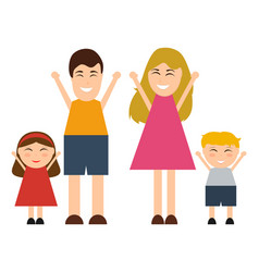 funny happy cartoon family vector image