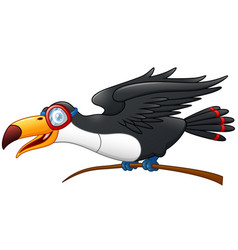 funny toucan cartoon character vector image