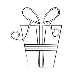 gift box with ribbon icon image vector image