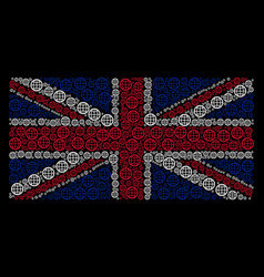 great britain flag pattern of globe items vector image