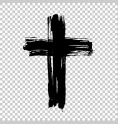 Hand drawn cross grunge cross cross made with vector