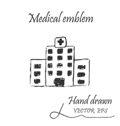 Health facility icon vector