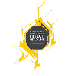 Hi-tech yellow elements vector