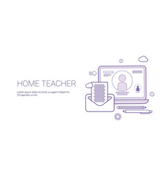 home teacher education concept banner with copy vector image