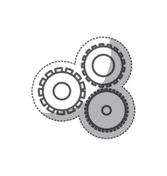 Isolated gear design vector