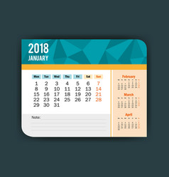 january calendar isolated icon vector image