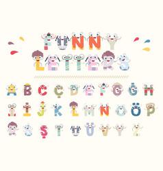 letters set vector image