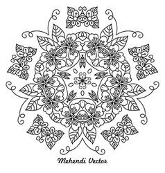 Mandala Rangoli vector image