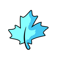 Maple leaf logo template icon vector