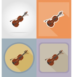 music items and equipment flat icons 05 vector image