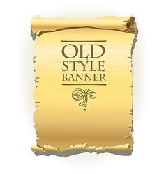 Old style banner vector image
