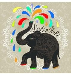 Original greeting card happy holi design vector