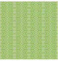 ornament on greenery seamless pattern background vector image