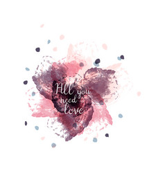 poster watercolor lettering all you vector image