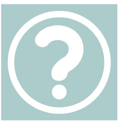 Question mark in a circle the white color icon vector