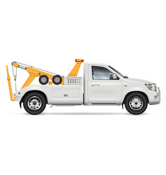 realistic tow truck vector image