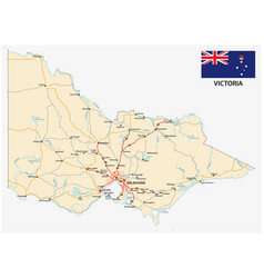 Road map australian state victoria with vector