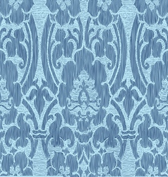 Seamless abstract striped floral pattern vector image