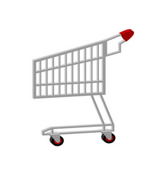 shopping cart isolated supermarket trolley sign vector image