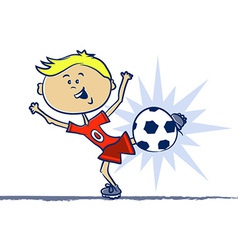 Soccer Boy vector