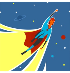 Superhero in space vector