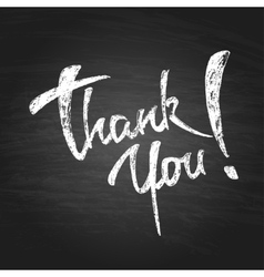 Thank You Chalk Hand Drawing Greeting Card vector
