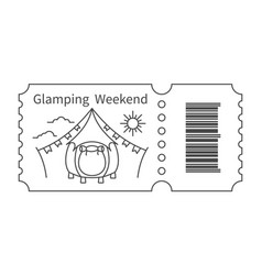 ticket with barcode and tent vector image