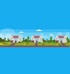 town house cottages country real estate concept vector image