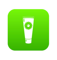 tube cream icon green vector image