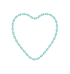 turquoise chain in shape of heart vector image