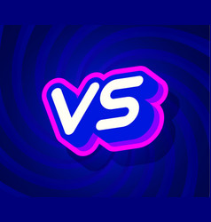 vs blue and pink text effect template with 3d vector image