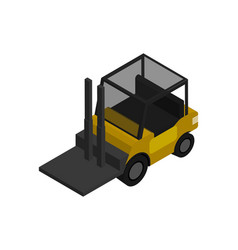 Warehouse forklift isometric icon vector