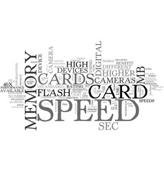 what is memory card speed text word cloud concept vector image