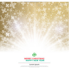 winter gold background christmas made of vector image