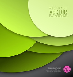 abstract background made from green circles vector image