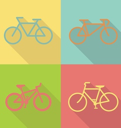 bicycle flat icon design vector image vector image
