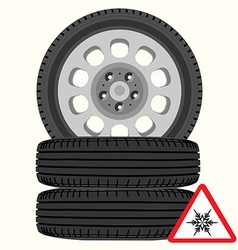 Car wheels vector image vector image