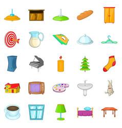 cosiness icons set cartoon style vector image