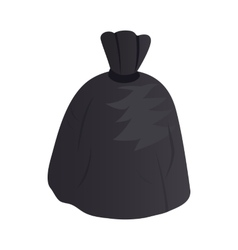 Garbage bag icon isometric 3d style vector image