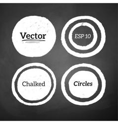 Hand drawn chalked circles vector image vector image