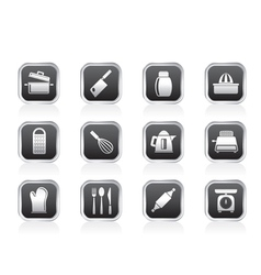Kitchen and household Utensil Icons vector image