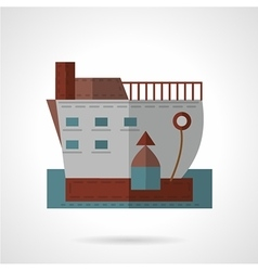 Passenger ship flat icon vector image vector image